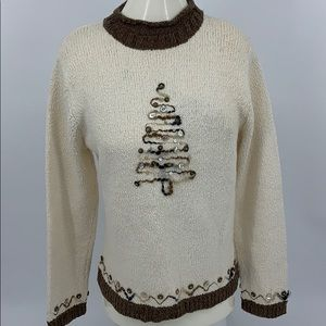 Christmas Sweater with Shoulder Pads. Sz. S